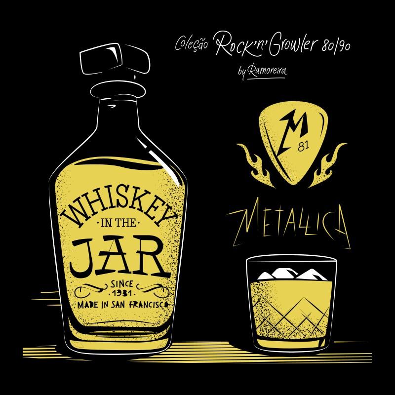 Copo Pint 473ml - Coleção Rock'n'Growler 80/90 - Metallica