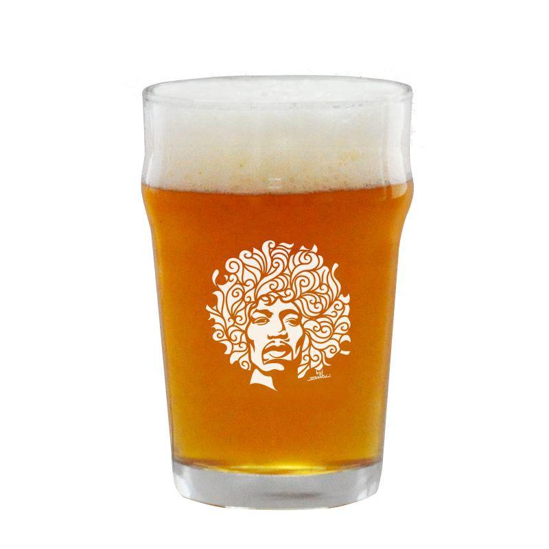 Copo Pint 473ml - Coleção Twenty Seven's - Jimi Hendrix