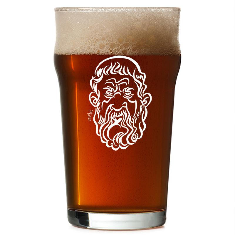 Copo Pint 473ml - Coleção Pensadores da Cerveja - Platão