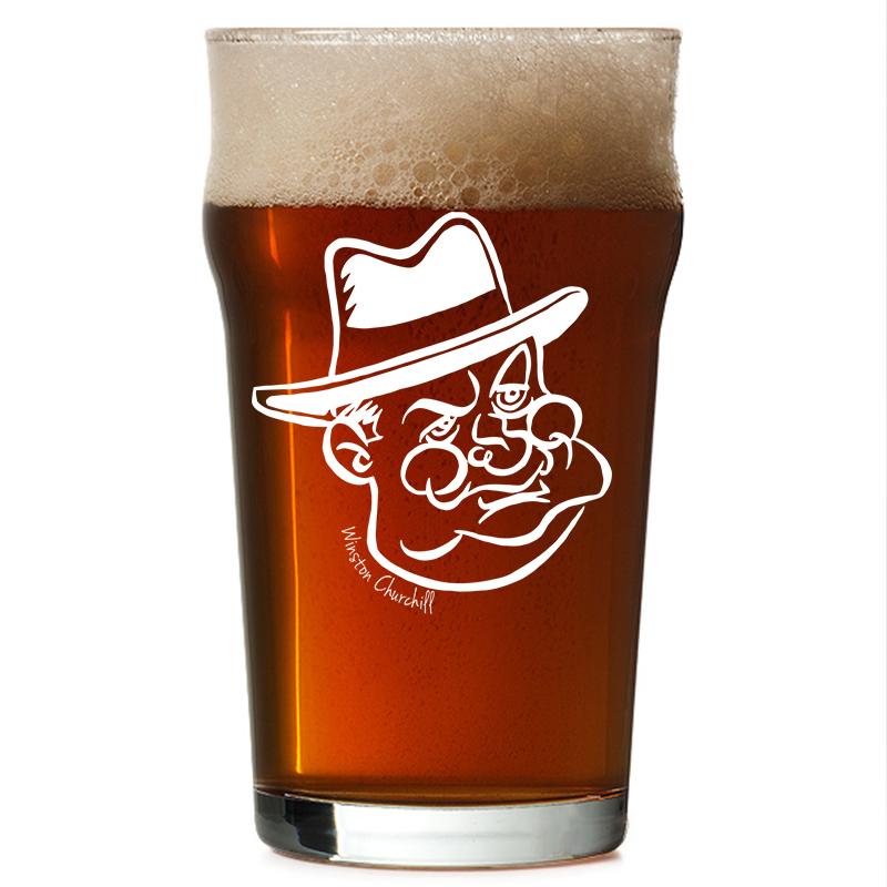 Copo Pint 473ml - Coleção Pensadores da Cerveja - Winston Churchill