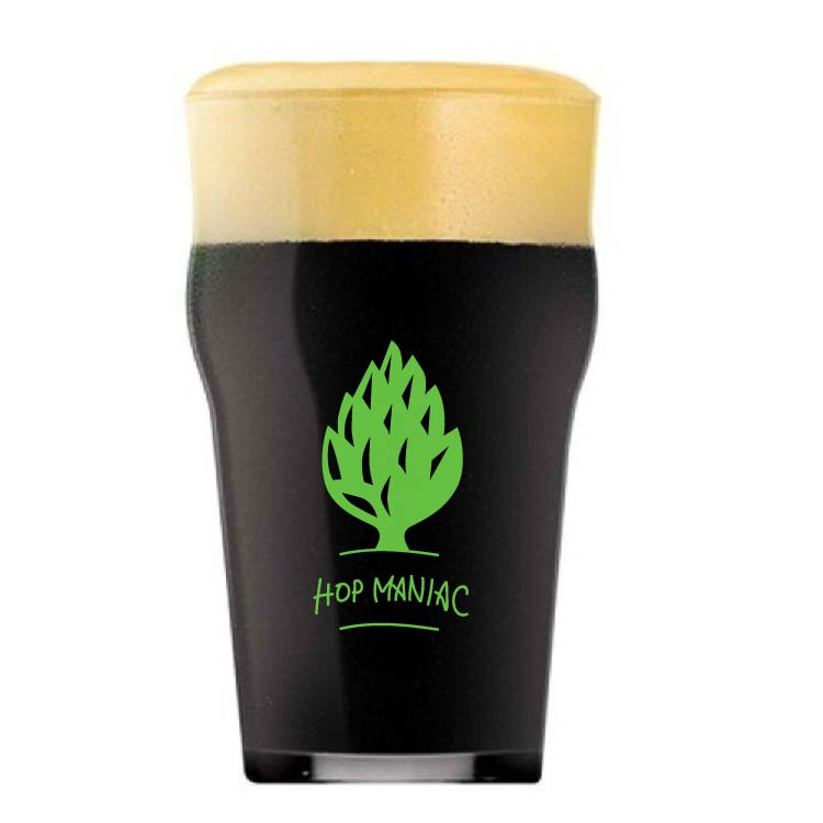 Copo Pint 473ml estampa verde - Coleção Cervejeiros - Hop Maniac