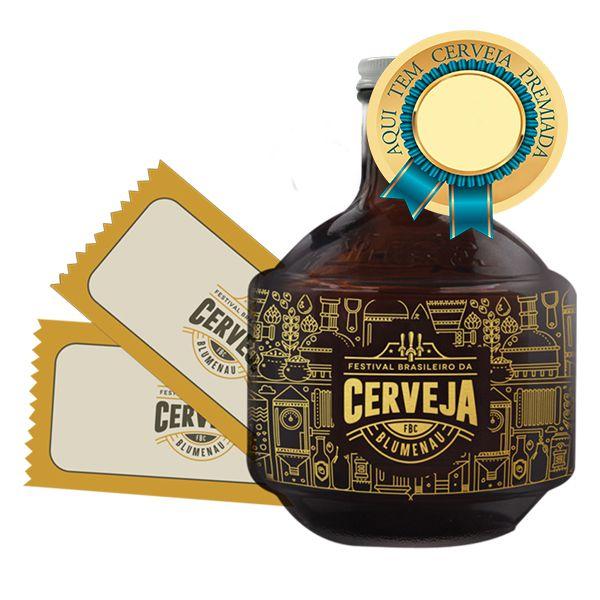 Golden Growler com cerveja premiada + 2 Ingressos Festival Brasileiro da Cerveja de Blumenau/SC