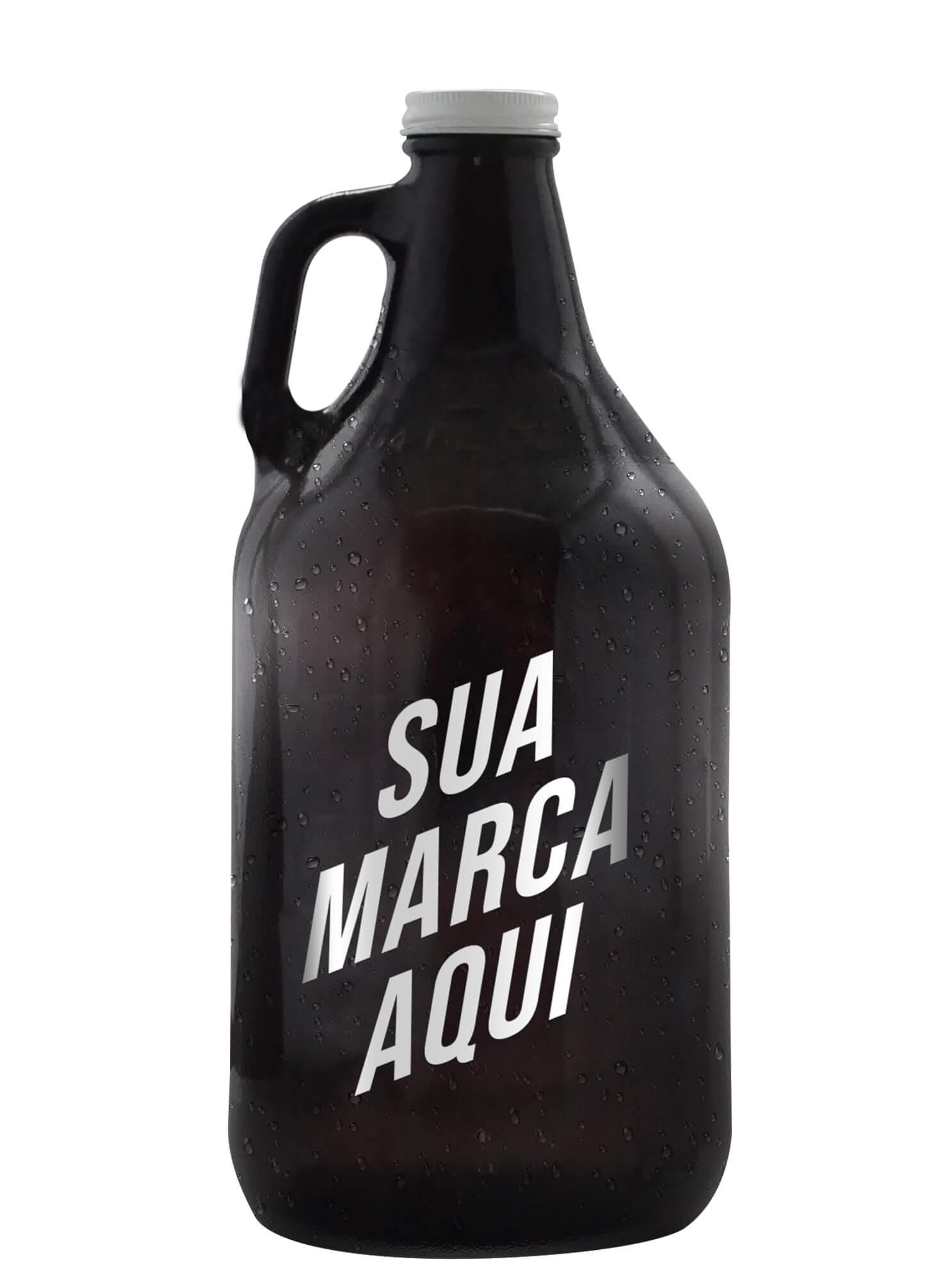 Growler americano 1,89 litro personalizado em serigrafia