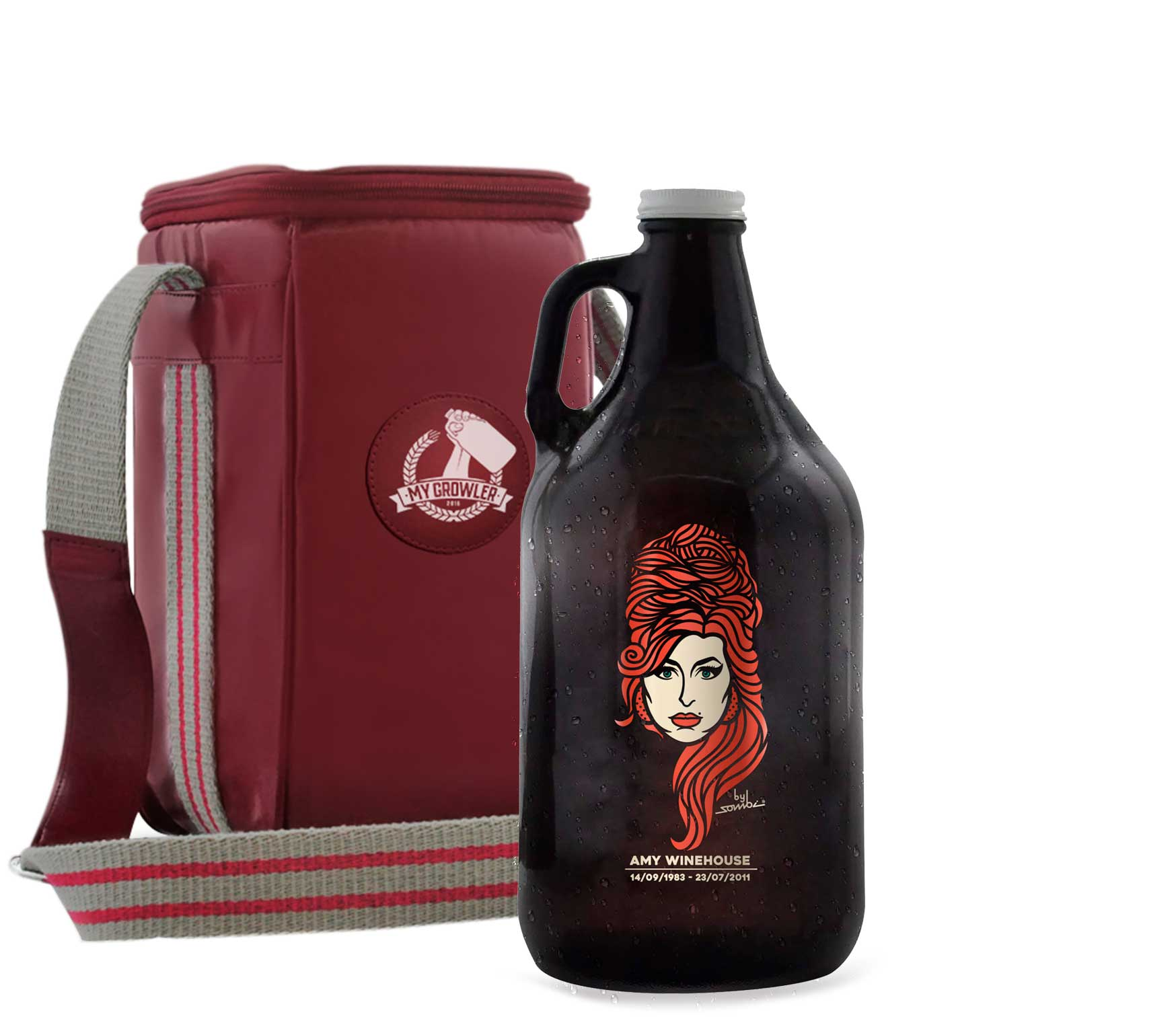 Growler Americano 1,89l - Amy Winehouse + Growler Bag Travel
