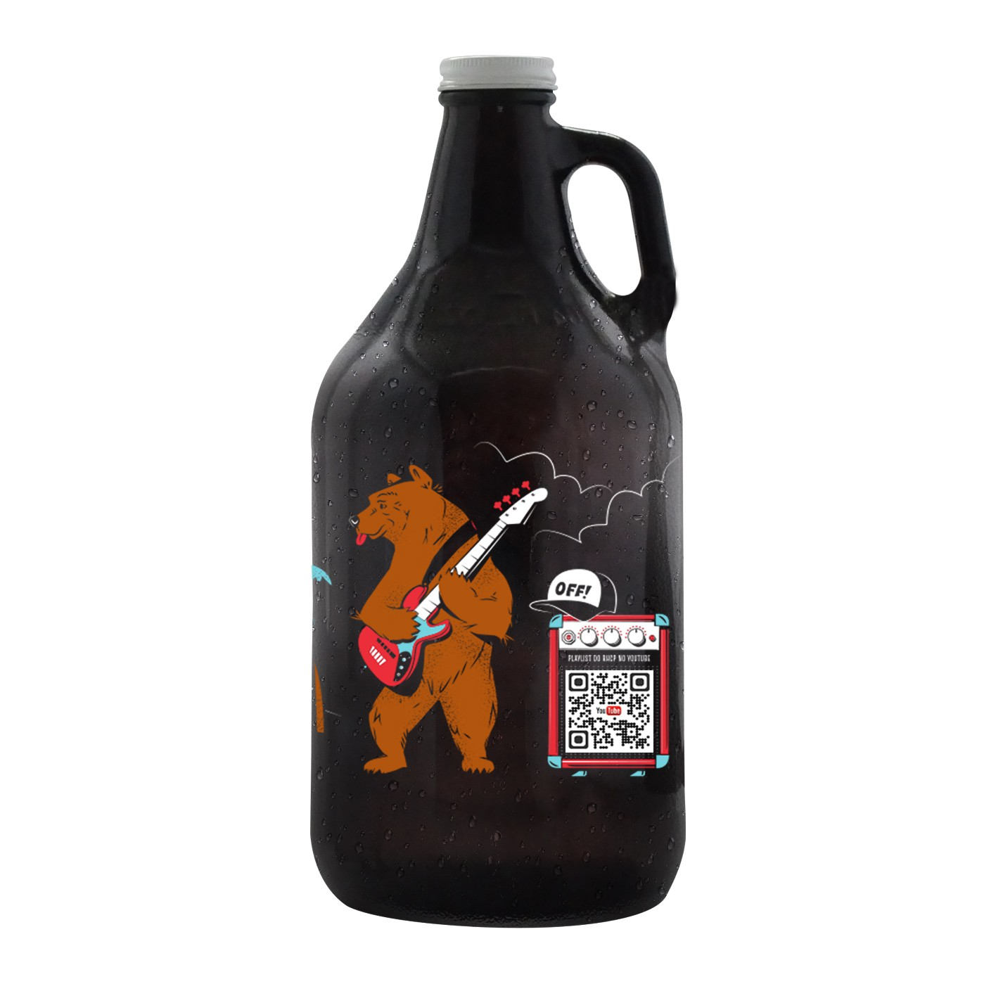 Growler Americano 1,89l - Coleção Rock'n'Growler 80/90 - Red Hot Chili Peppers
