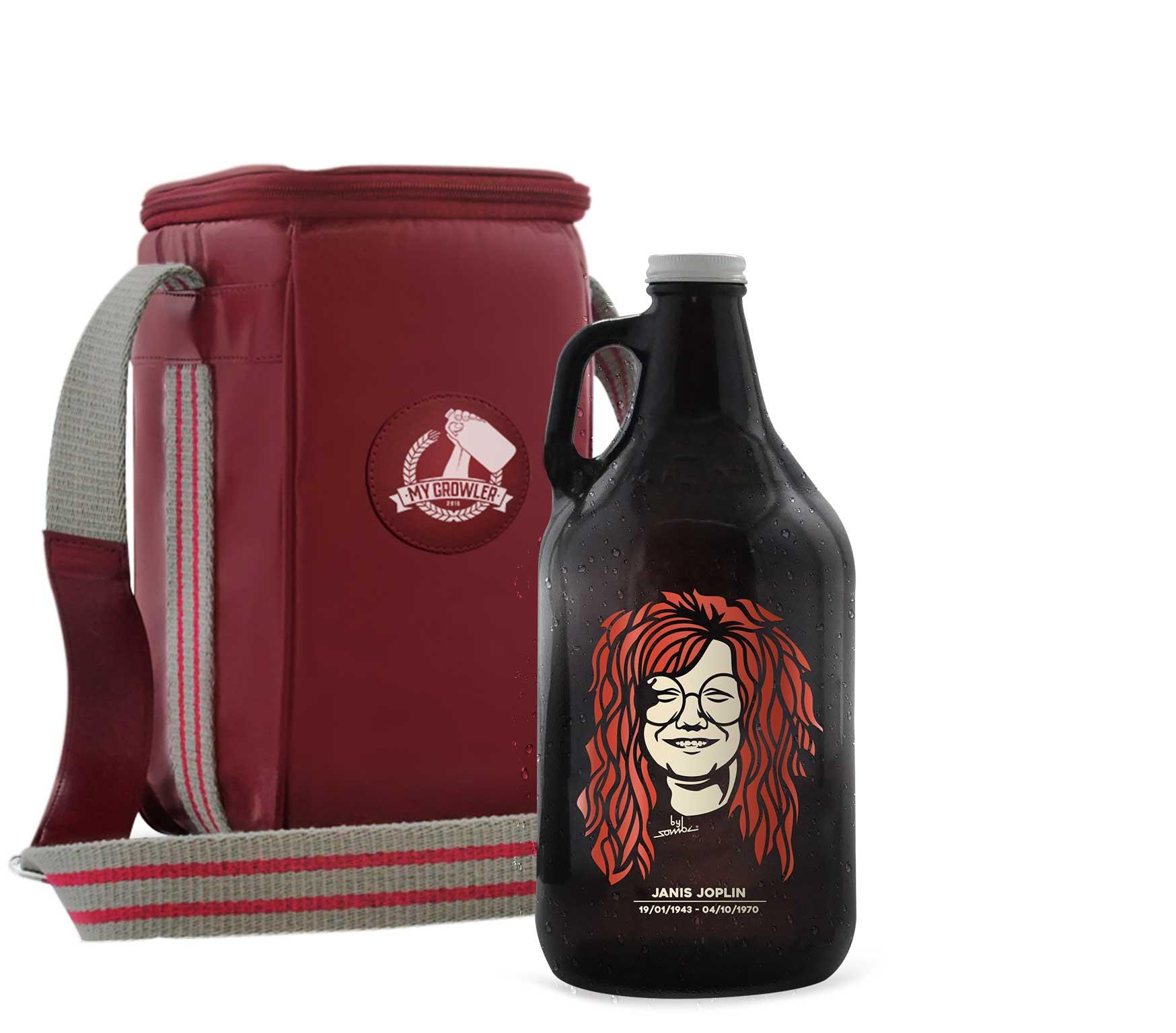 Growler Americano 1,89l - Janis Joplin + Growler Bag Travel