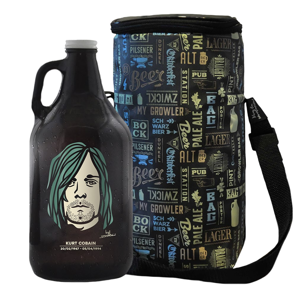 Growler Americano 1,89l - Kurt Cobain + Growler Bag To Go