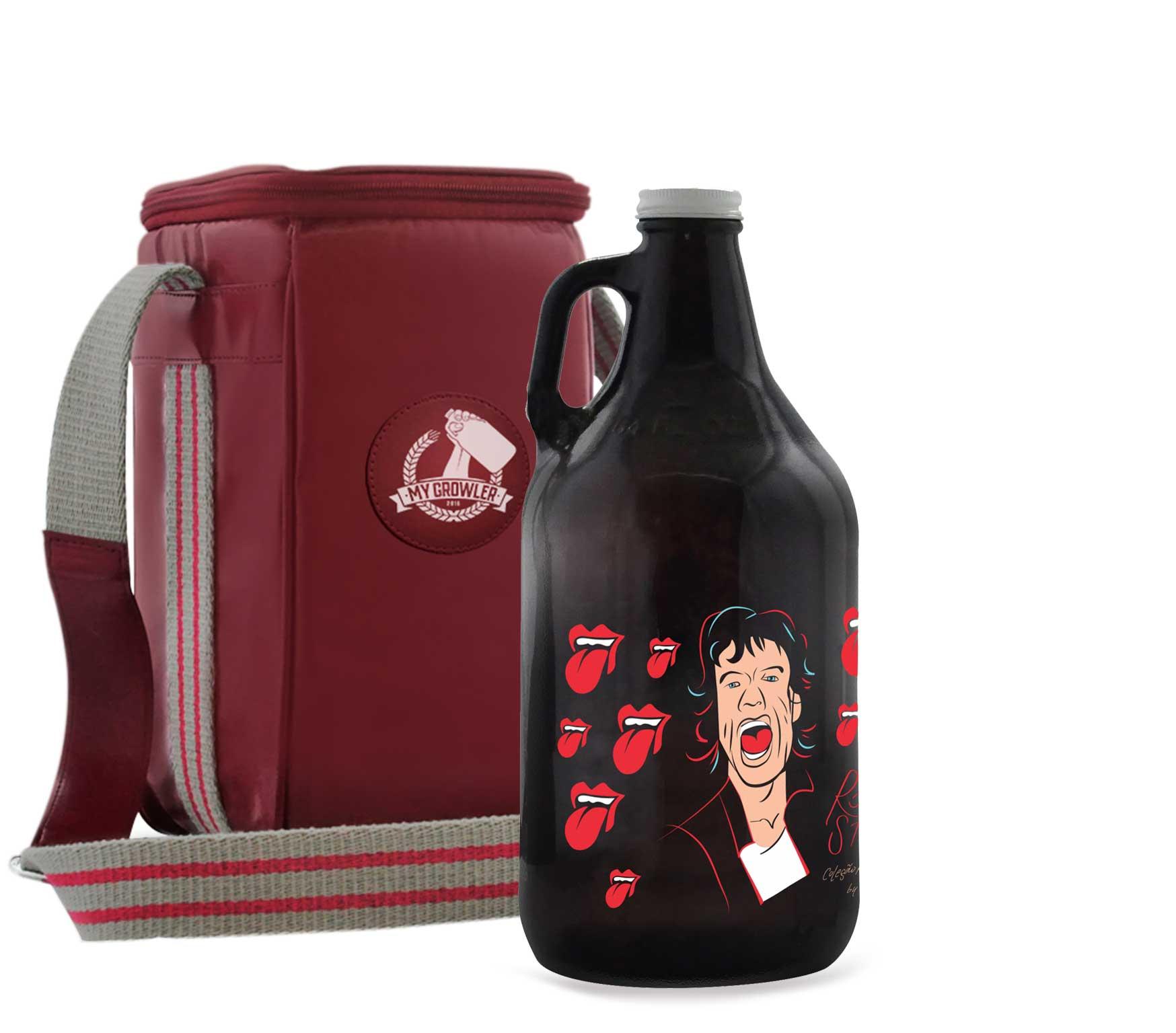 Growler Americano 1,89l - Rolling Stones + Growler Bag Travel
