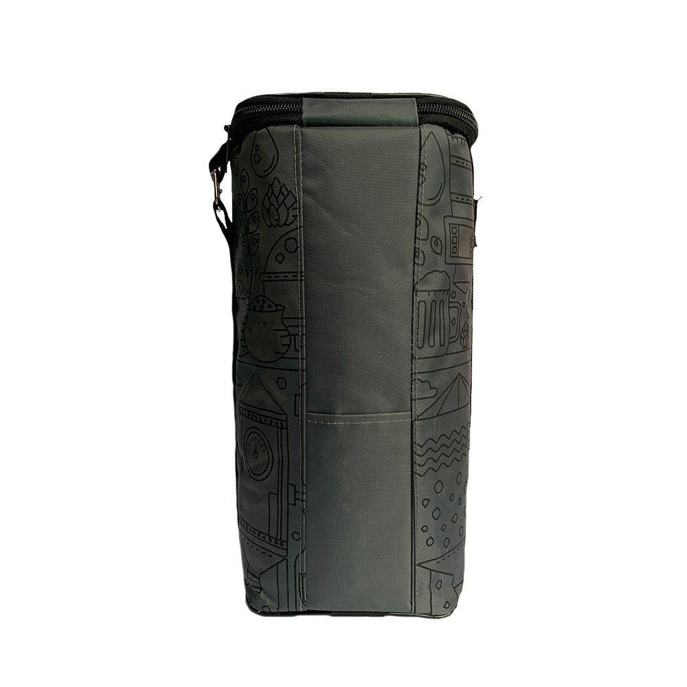Growler Bag To Go para 1 Growler -  Cinza/Preto