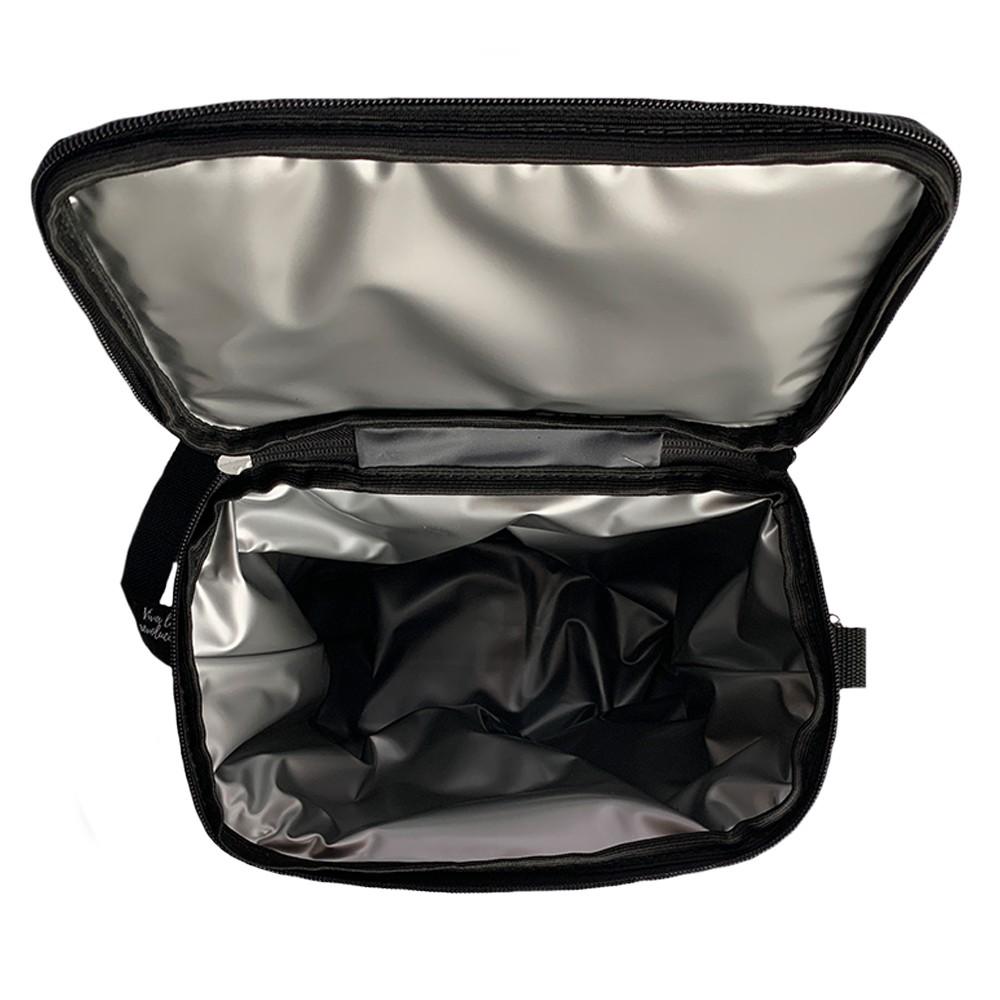 Growler Bag To Go para 2 growlers - Cinza/Preto