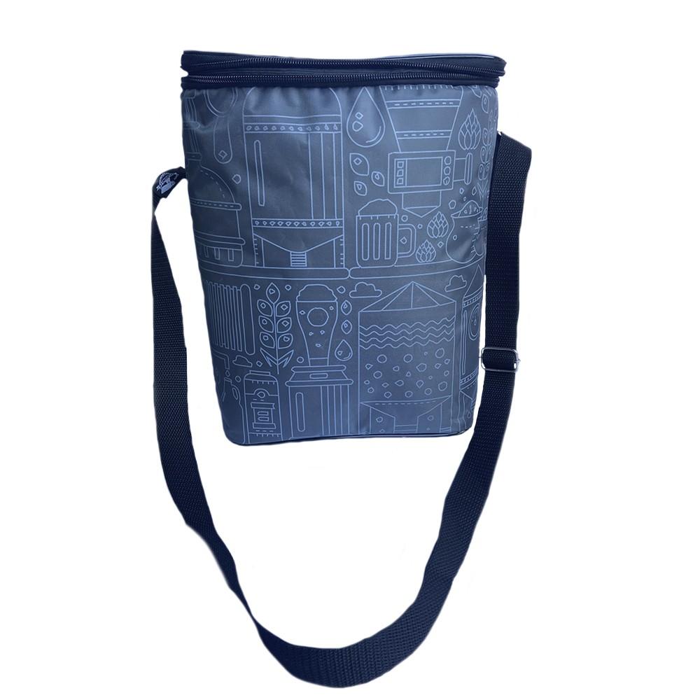 Growler Bag To Go para 2 growlers - Cinza/Branco