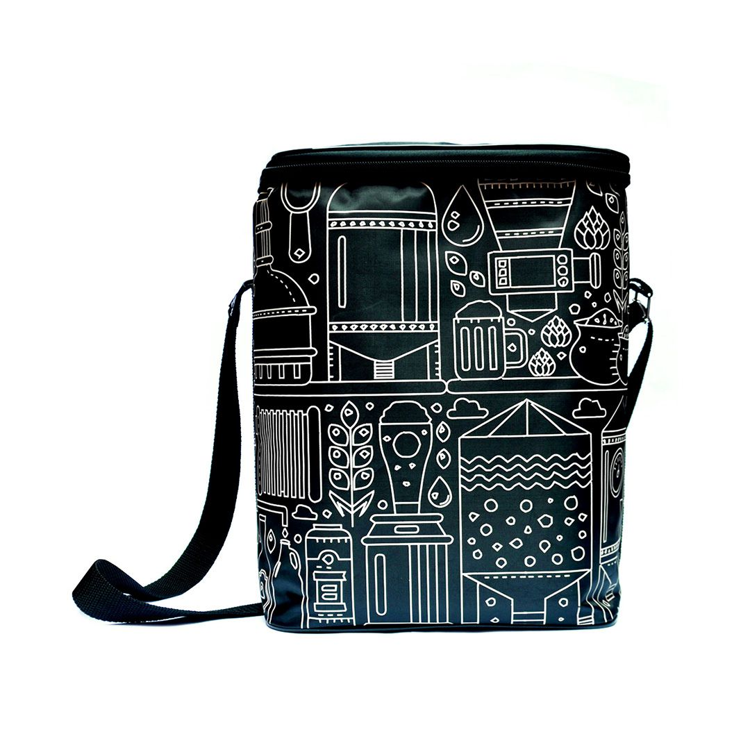 Growler Bag To Go para 2 growlers - Preto/Bege