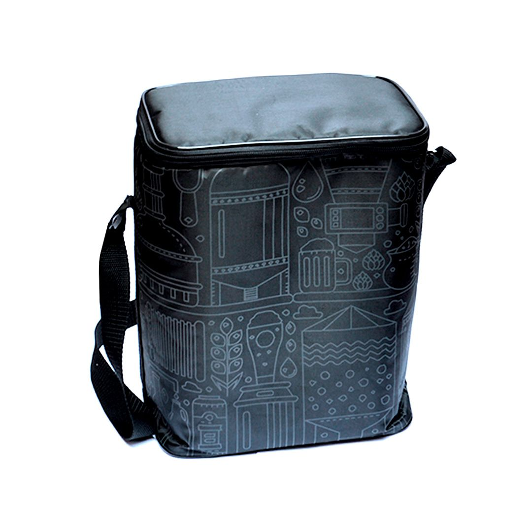 Growler Bag To Go para 2 growlers - Preto/Grafite