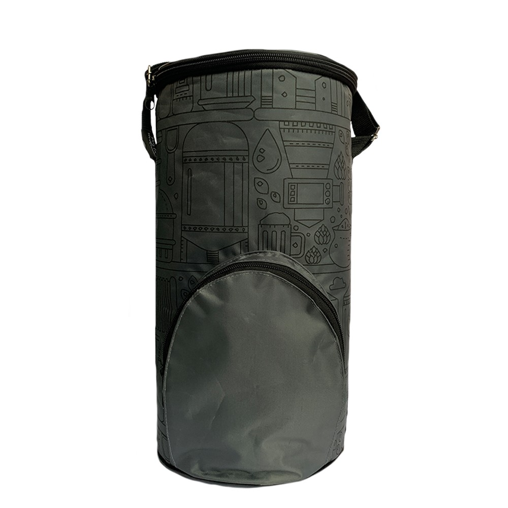 Growler Bag To Go para Mini Keg -  Cinza/Preto