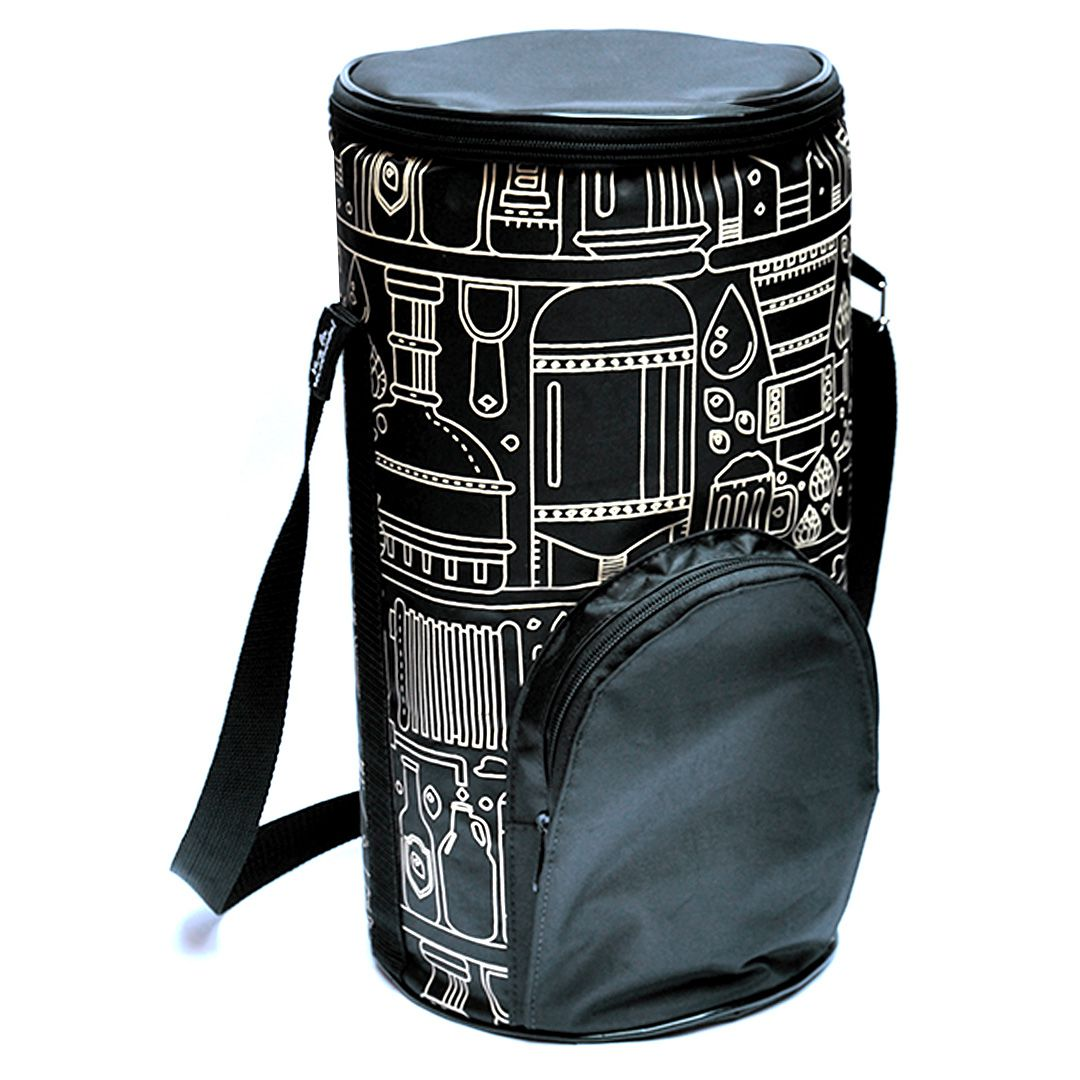 Growler Bag To Go para Mini Keg - Preto/Bege