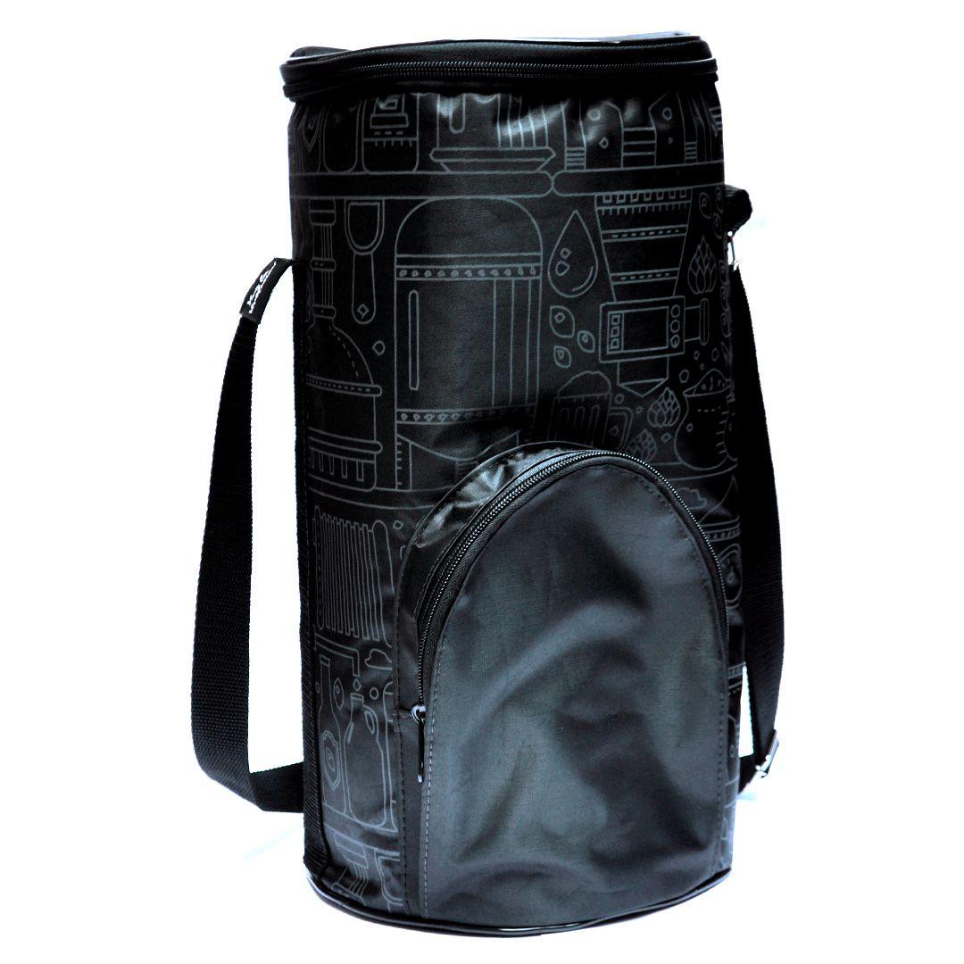 Growler Bag To Go para Mini Keg -  Preto/Grafite