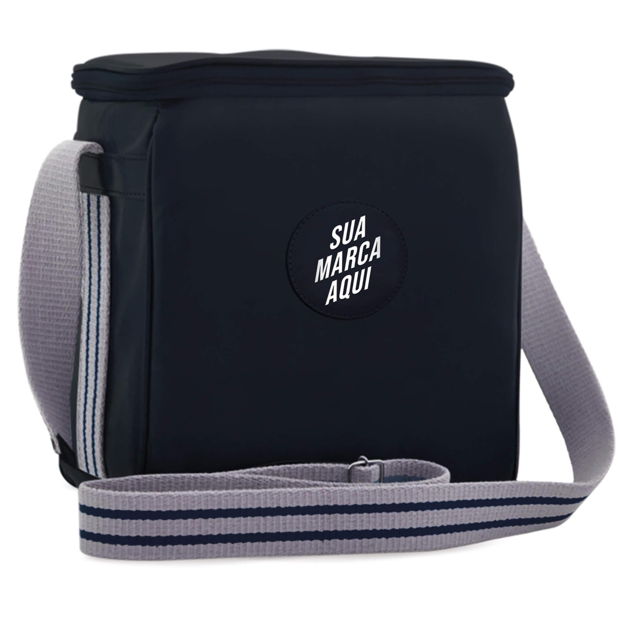 Growler Bag Travel em couro sintético personalizada para 2 growlers