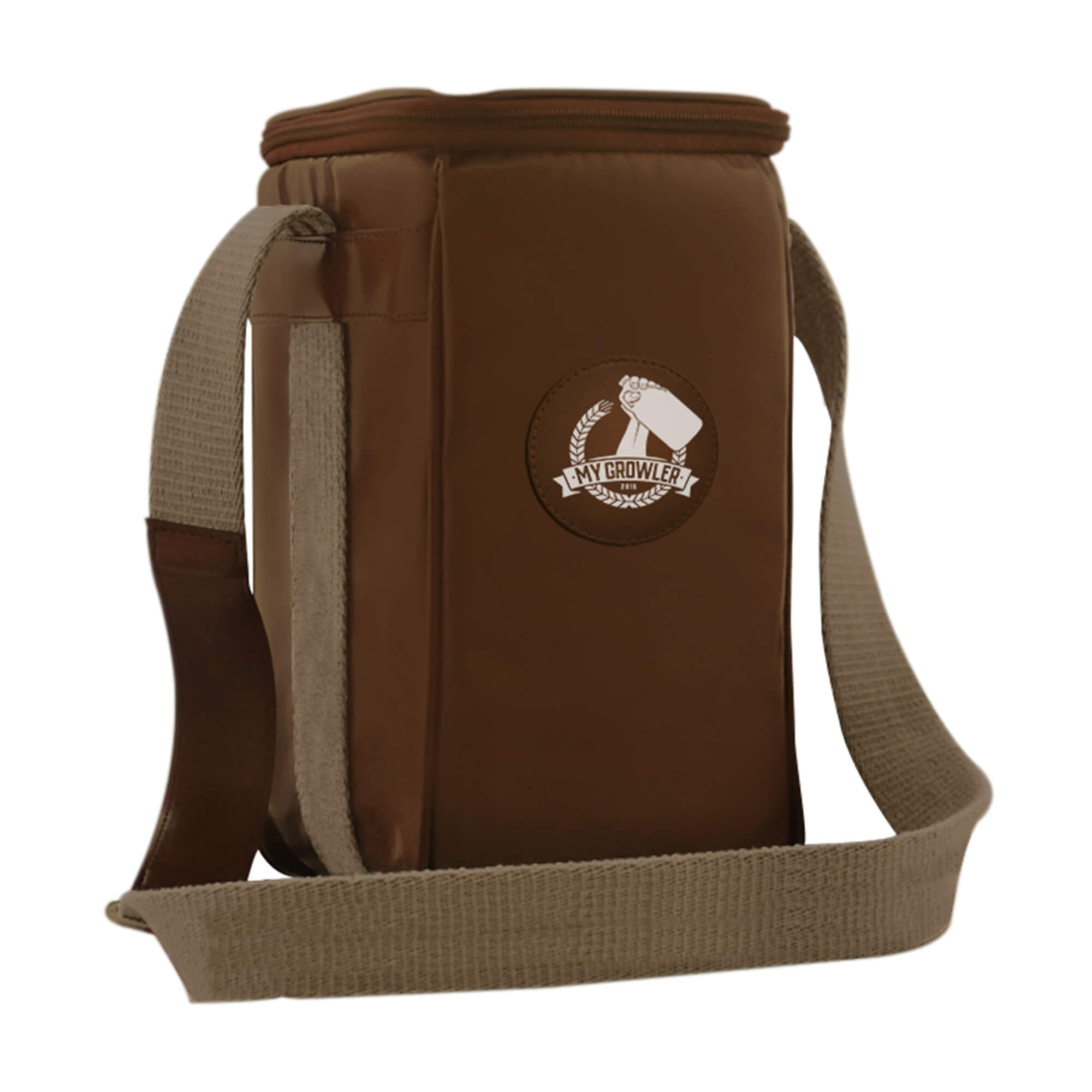GROWLER BAG TRAVEL PARA 1 GROWLER - MARROM
