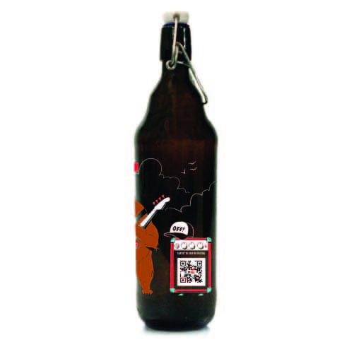 Growler Berlim 1l - Coleção Rock'n'Growler 80/90 - Red Hot Chili Peppers
