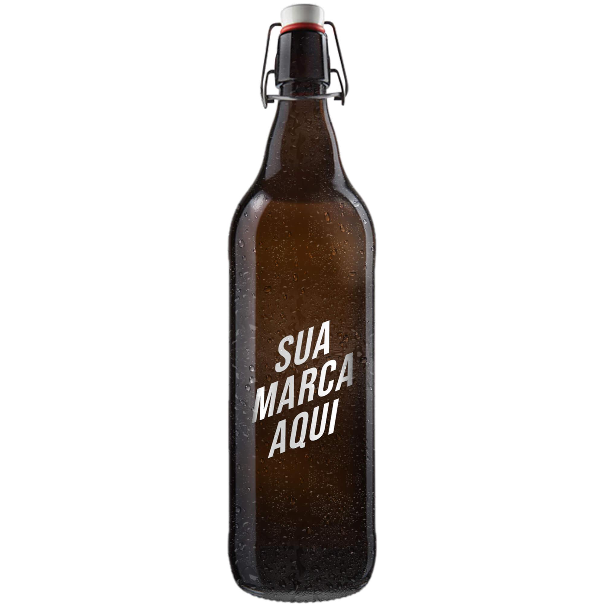 Growler Munich 1 litro personalizado em serigrafia