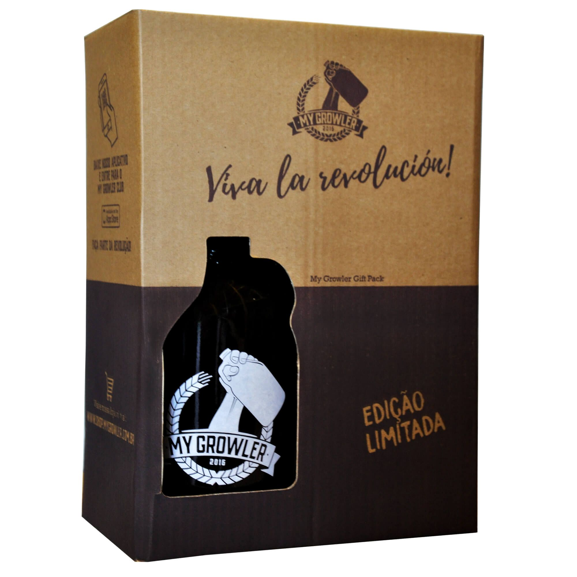 Kit My Growler #3 - Growler Americano + Copo London 540ml + Ecobag + Embalagem especial