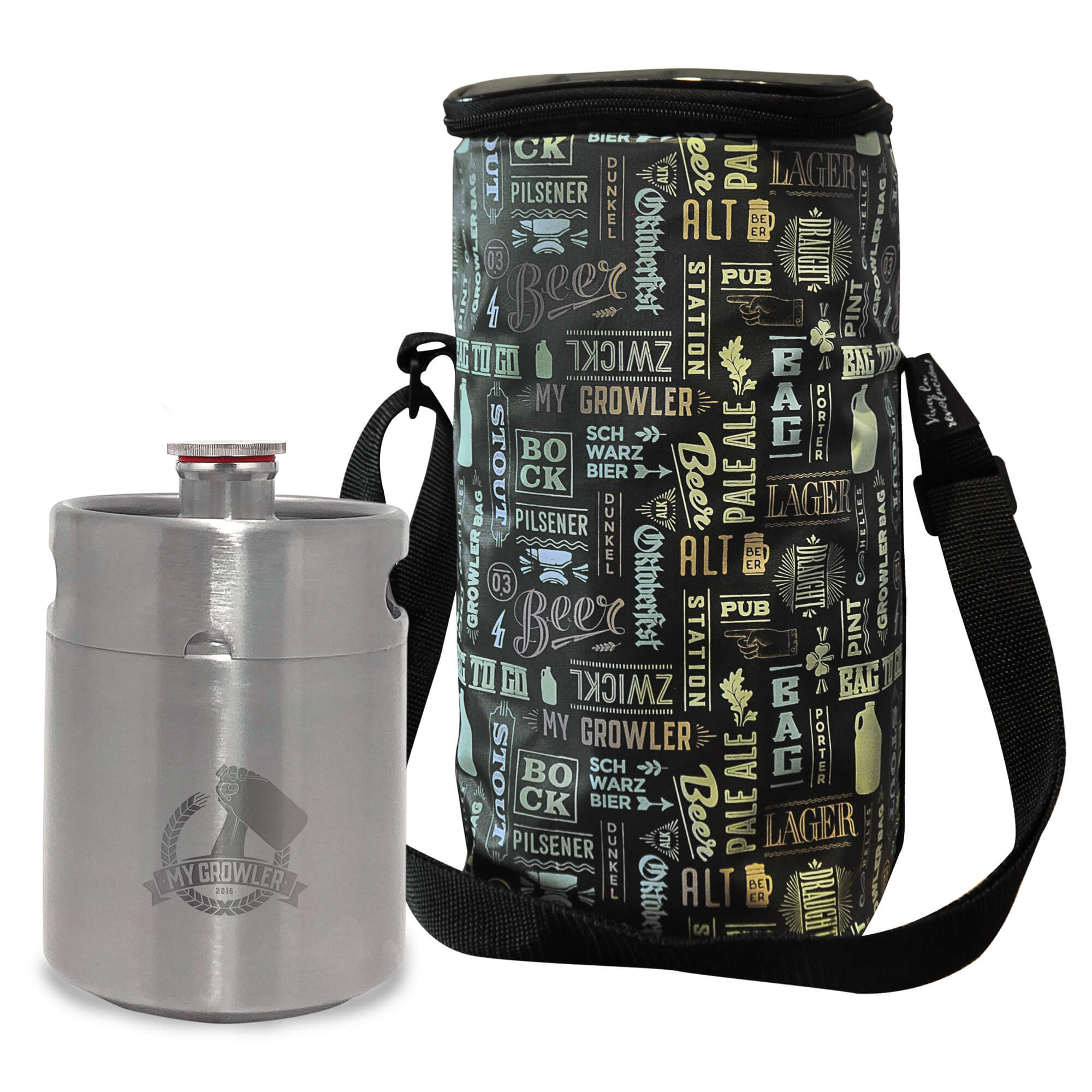 Kit My Keg #1 - Mini Keg 2L My Growler + Growler Bag To Go para 1 growler