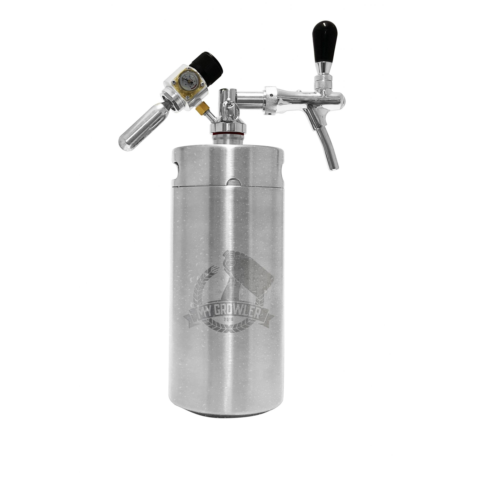 Kit My Keg Growler Inox 3,8L com Torneira Italiana Premium
