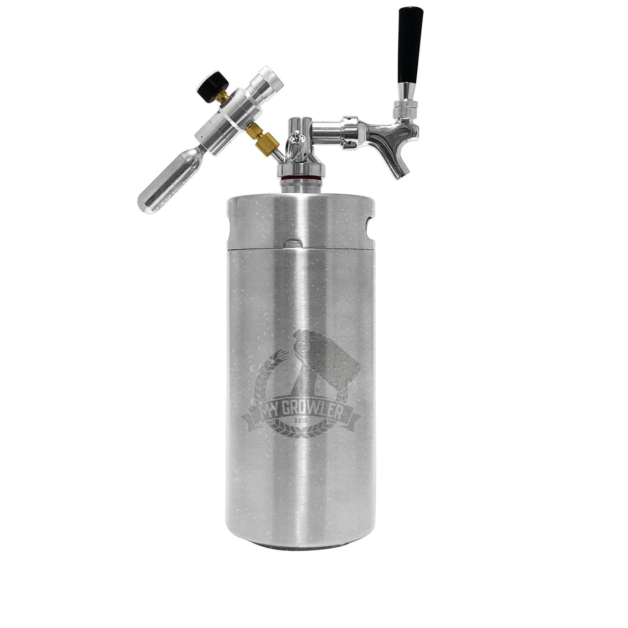 Kit My Keg Growler Inox 3,8L com Torneira Americana Standard
