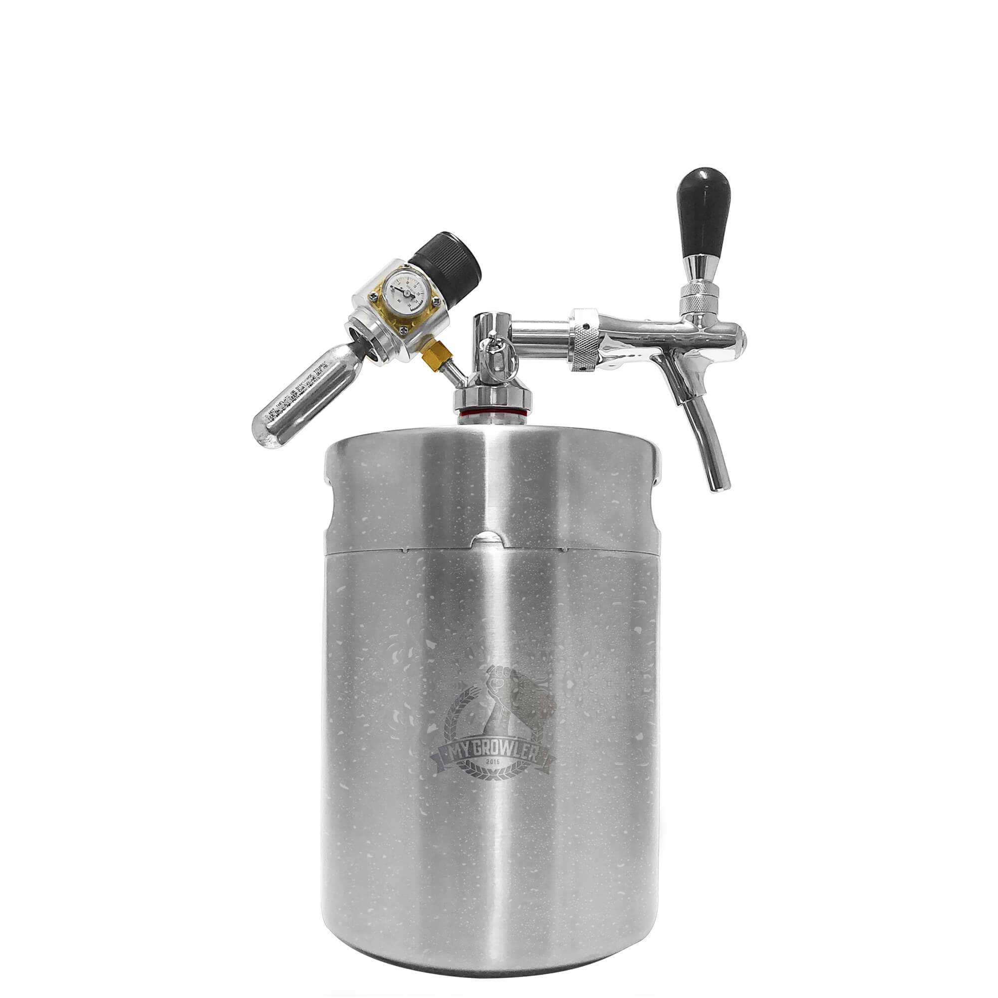 Kit My Keg Growler Inox 5L com Torneira Italiana Premium