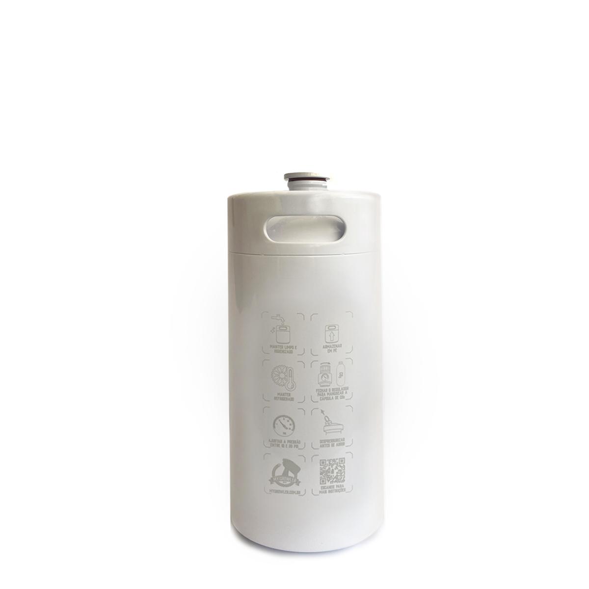 Kit My Keg: Chopeira 3.6L branco com torneira americana standard