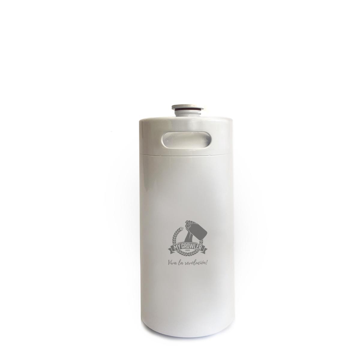 Kit My Keg: Chopeira 3.6L branco com torneira italiana premium