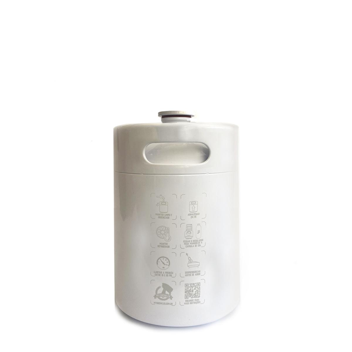 Kit My Keg: Chopeira 5L branco com torneira italiana premium