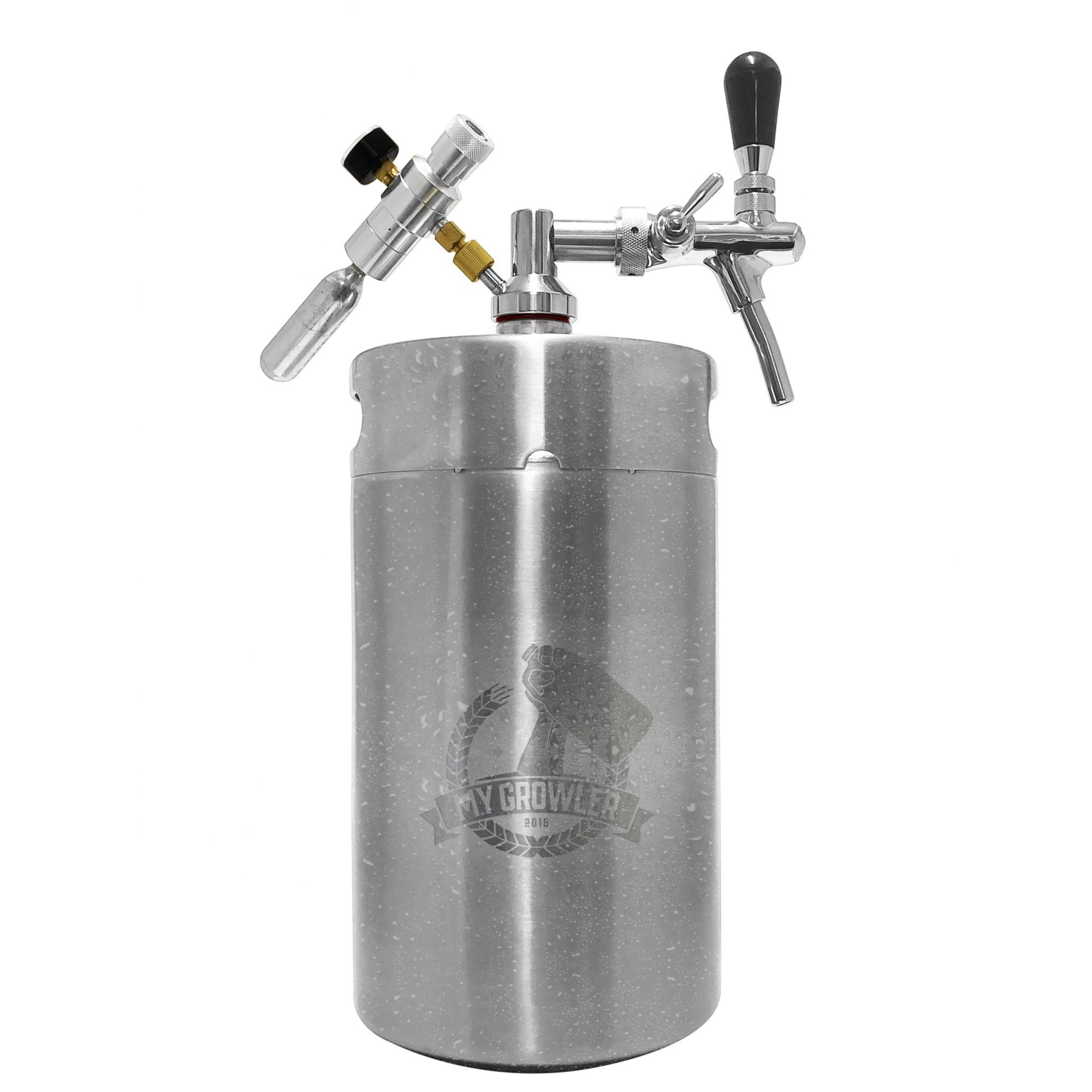 Kit My Keg Growler Inox 8l com Torneira Italiana Standard