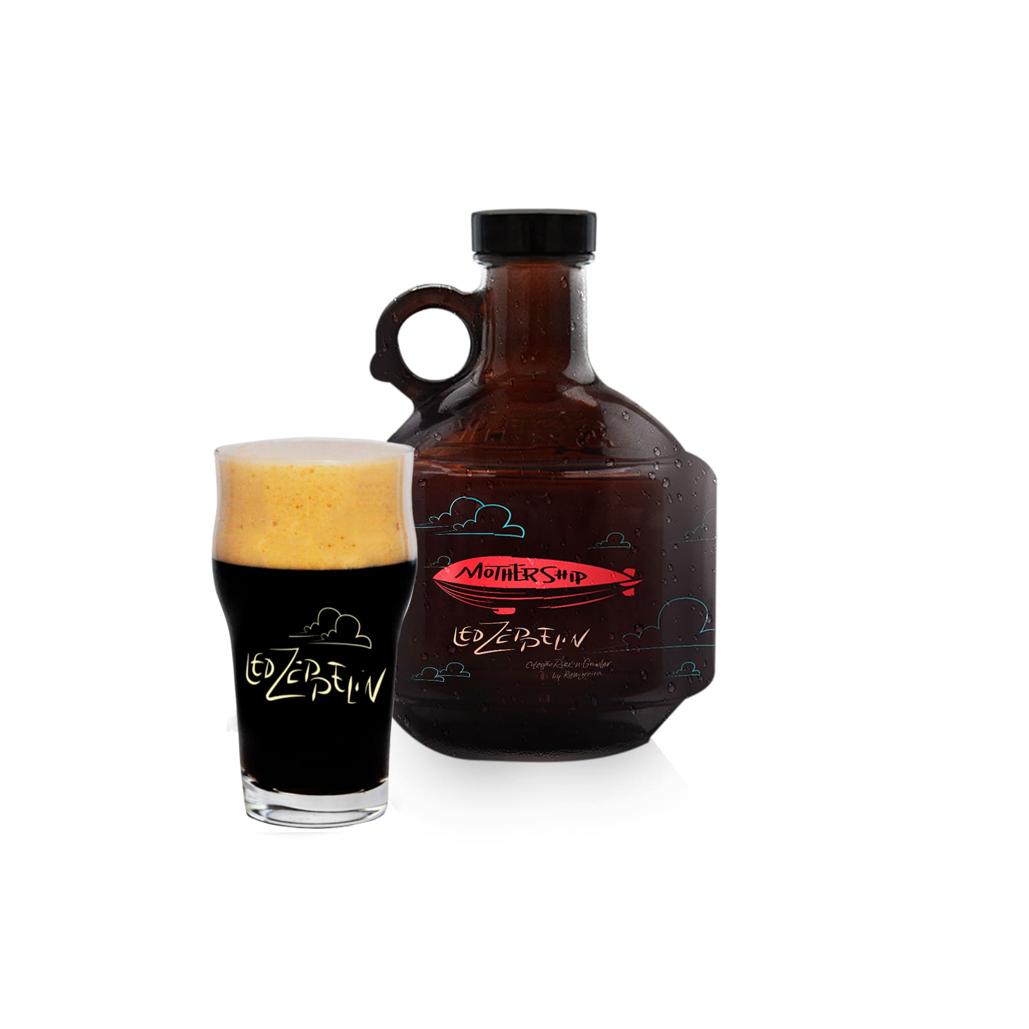 Kit Rock'n'Growler #11 - Growlucho 1l + Copo Pint 473ml