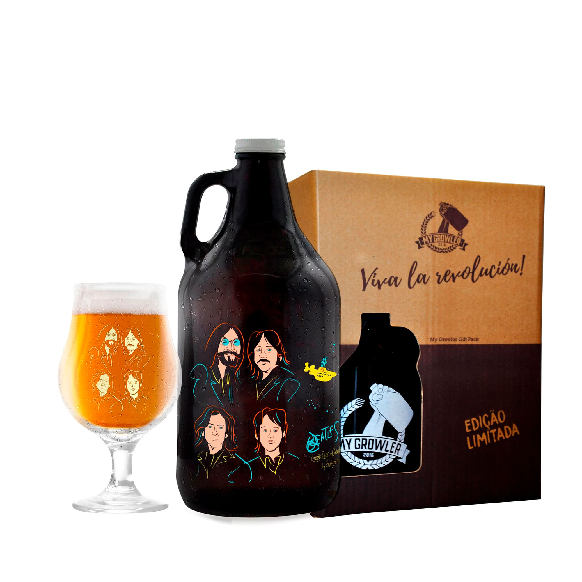 Kit Rock'n'Growler #8 - Growler Americano + Taça Dublin 400ml