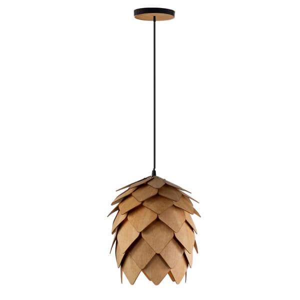 Luminária Lúpulo de madeira pendente