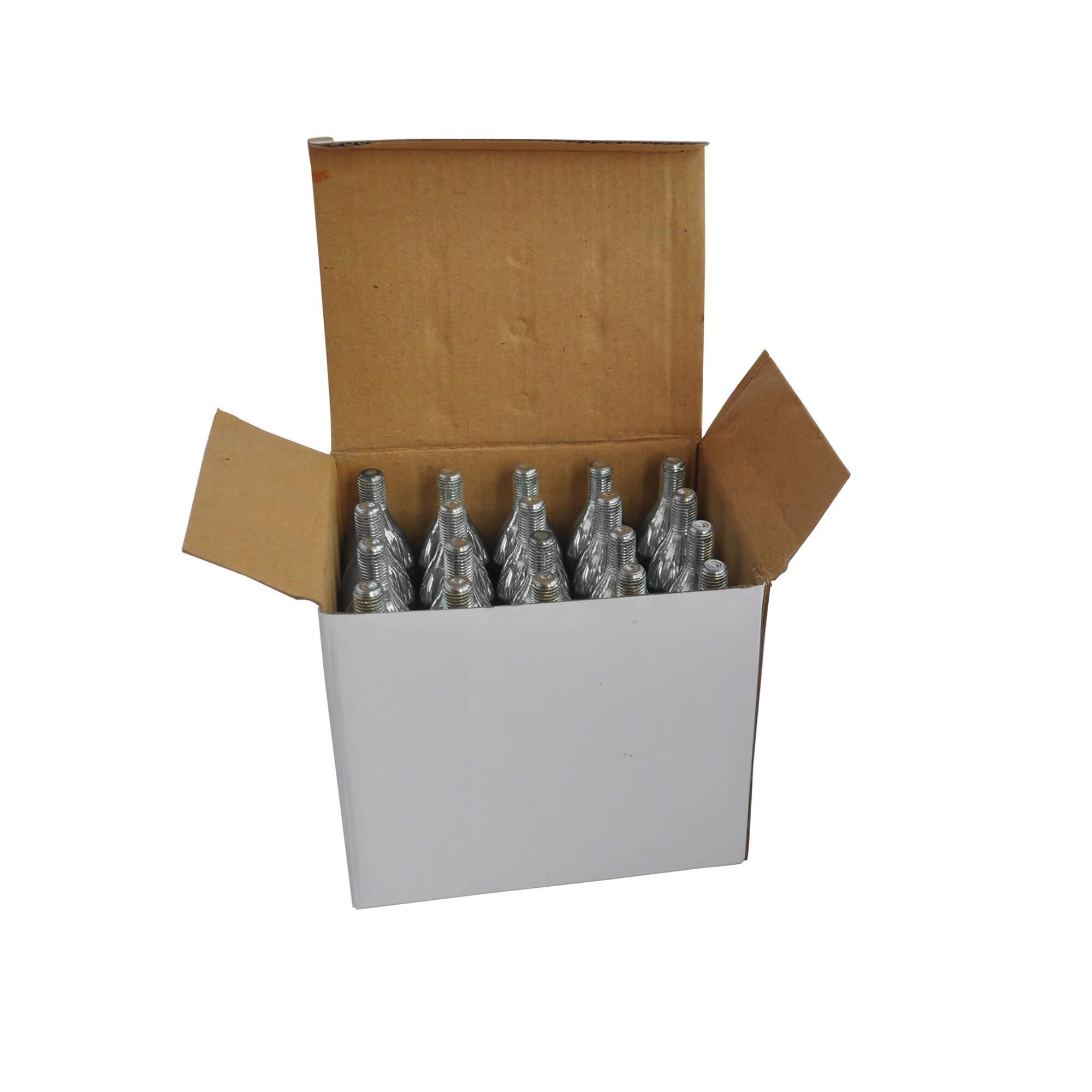 Mini Cilindro de CO2 Alimentício para My Keg - 25g pack de 20
