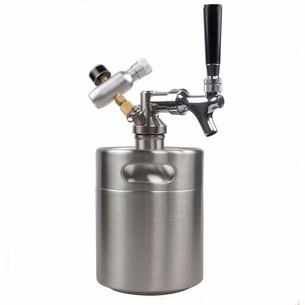 Mini Keg de aço inox de 2L personalizado em laser