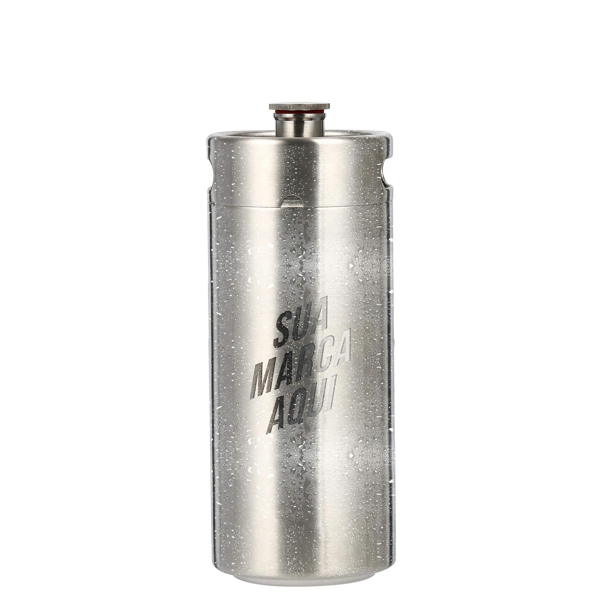 Mini Keg de aço inox de 4L personalizado em laser