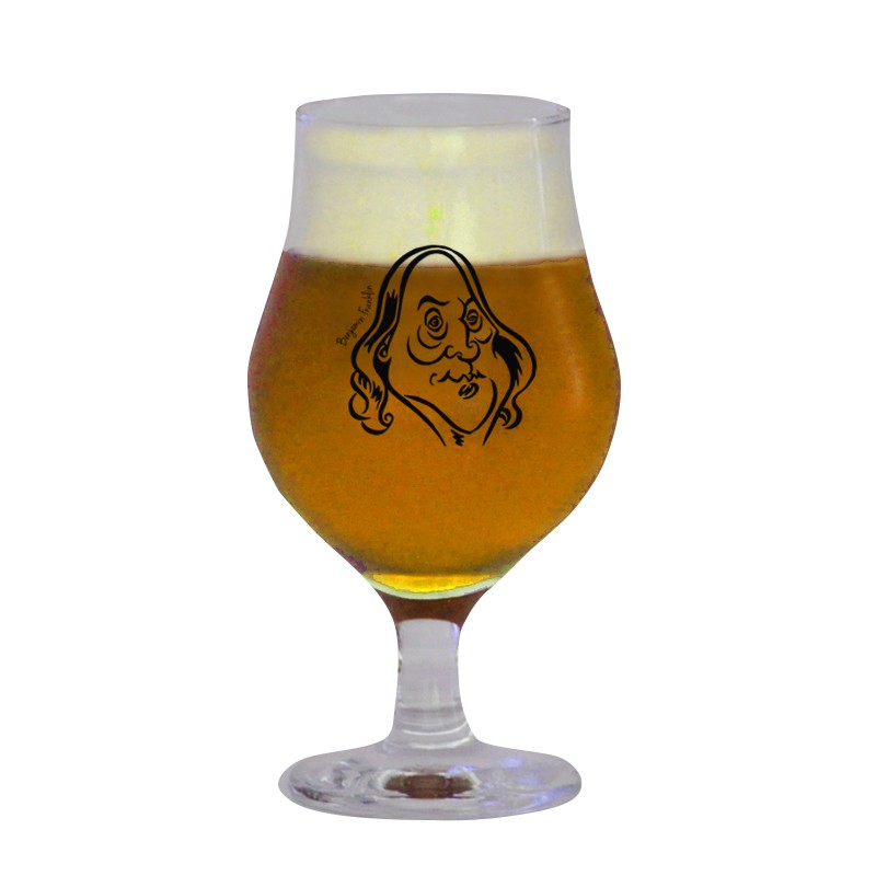 Taça Dublin 400 ml - Coleção Pensadores da Cerveja - Benjamin Franklin