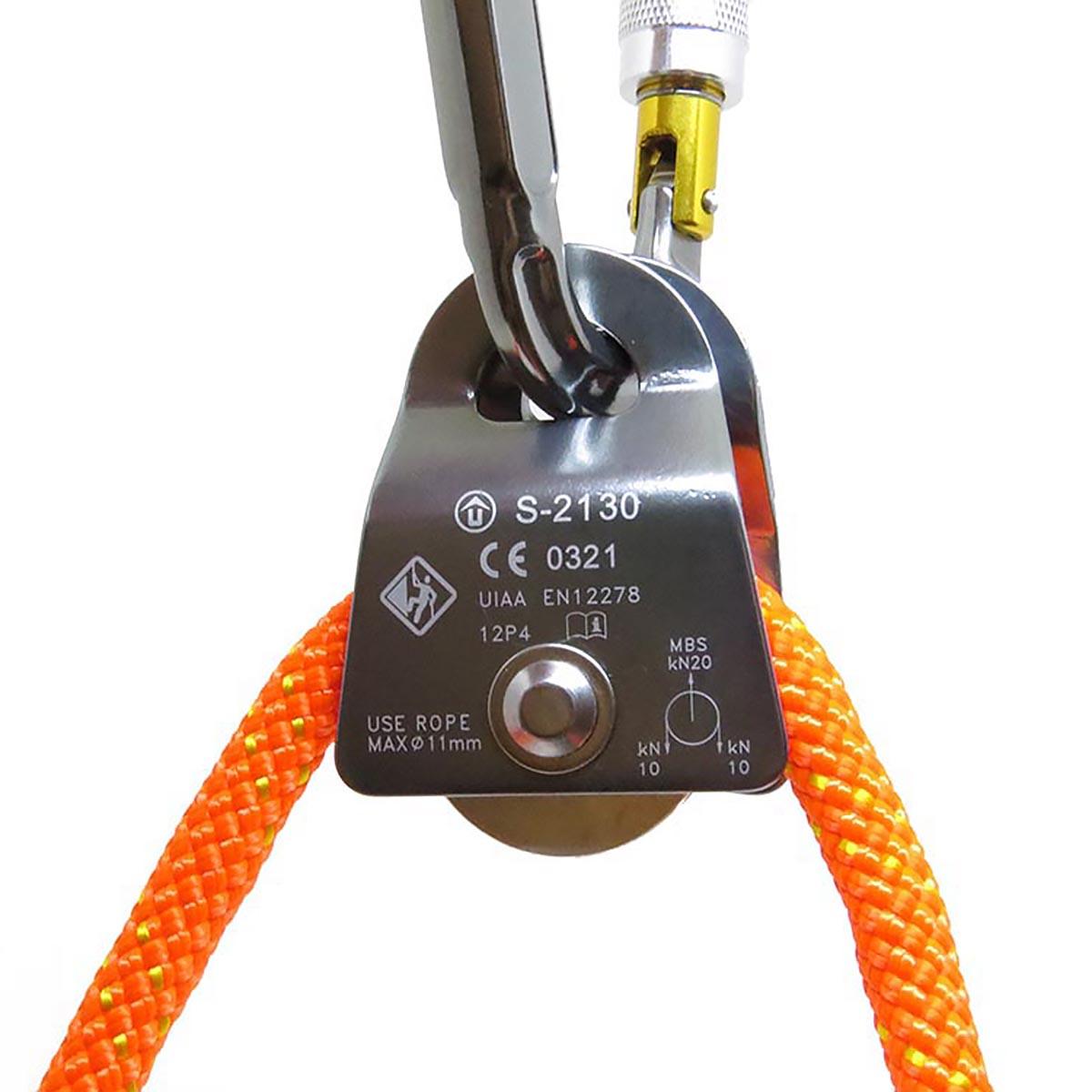 Polia Oscilante para Corda de até 11mm 20KN - USCLIMB