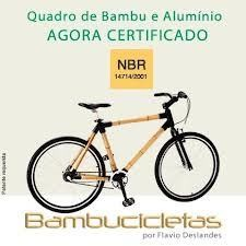 Bicicleta de Bambu BAMBUCICLETA completa e montada