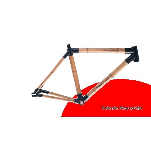 Bicicleta de Bambu Quadro de Bambu com conexões em alumínio