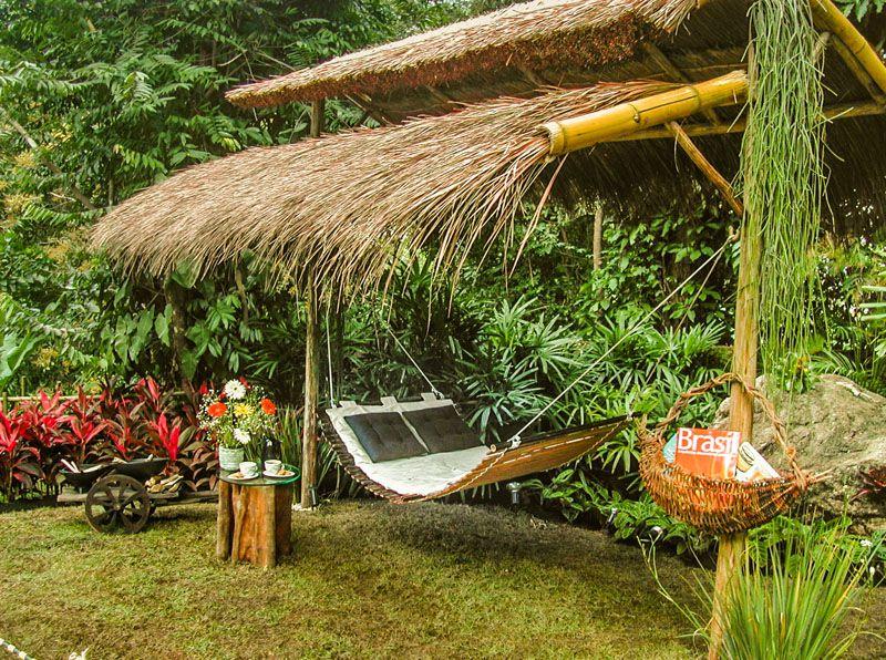 Rede de descanso dormir bambu BAMBUSA casal