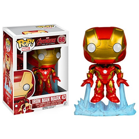 Funko Pop! Marvel Homem de Ferro Mark 43 Vinyl Bobble-Head 66  - Movie Freaks Collectibles