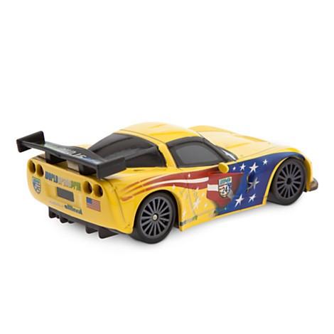 Disney Store Jeff Gorvette  Die Cast Car - Cars 2 - 1:43  - Movie Freaks Collectibles