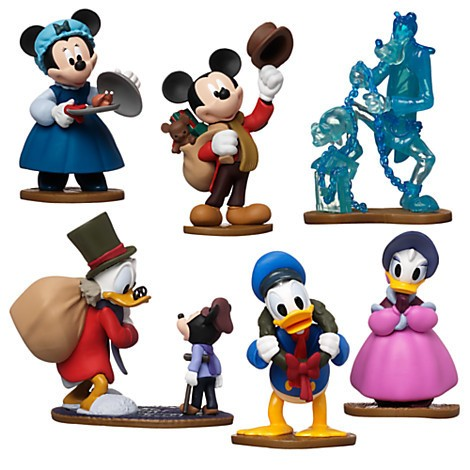 Disney Store Mickey´s Christmas Carol Figure Play Set Natal  - Movie Freaks Collectibles