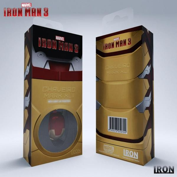 Chaveiro Capacete Homem de Ferro Mark XLII - HELMET KEYCHAIN IRON MAN MARK XLII  - Movie Freaks Collectibles