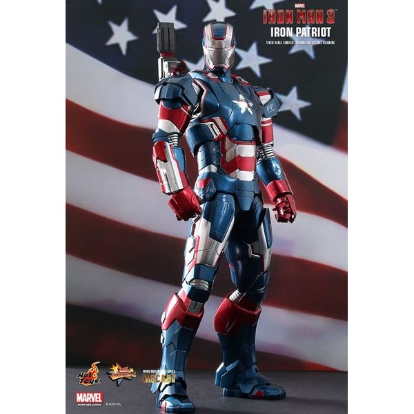Hot Toys Iron Patriot - Homem de Ferro 3 Die Cast  - Movie Freaks Collectibles