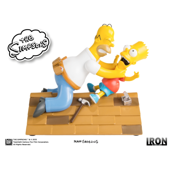 Iron Studios The Simpsons ? Homer vs Bart  - Movie Freaks Collectibles